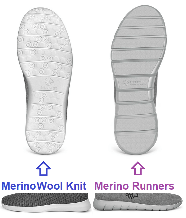 giesswein wool knit vs merino runners sole